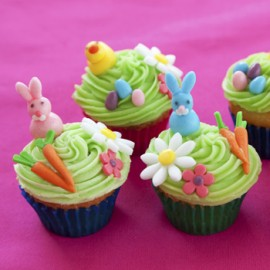 Designer Cupcakes Easter Theme