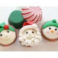Designer Cupcakes Christmas Theme